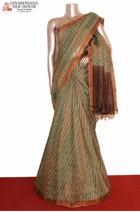 Printed Pure Tussar Silk Saree