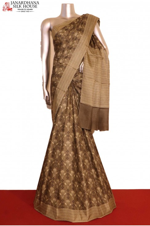 Pure Printed Silk Saree