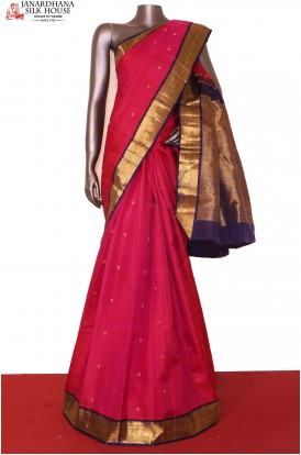 Pink Kanjivaram Wedding Silk Saree