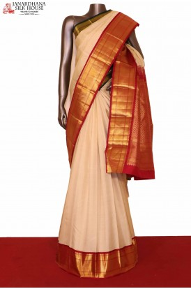 Ganga Jamuna Kanchipuram Silk Saree