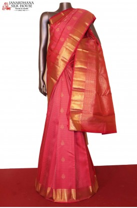 Bridal Pink Kanjivaram Silk Saree