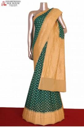 Contrast Banarasi Georgette Silk Saree