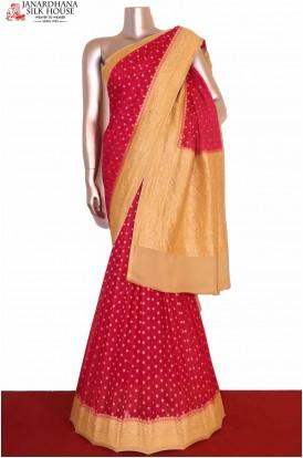Handloom Banarasi Georgette Silk Saree