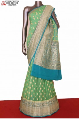 Grand Banarasi Georgette Silk Saree
