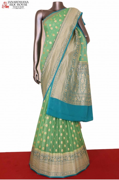 Grand Banarasi Georgette Silk ..