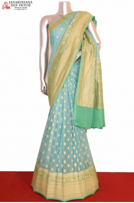 Pure Banarasi Georgette Silk Saree
