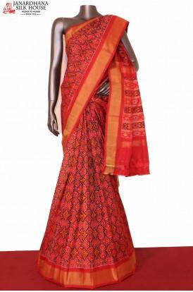 Traditional Ikat Patola Silk Saree