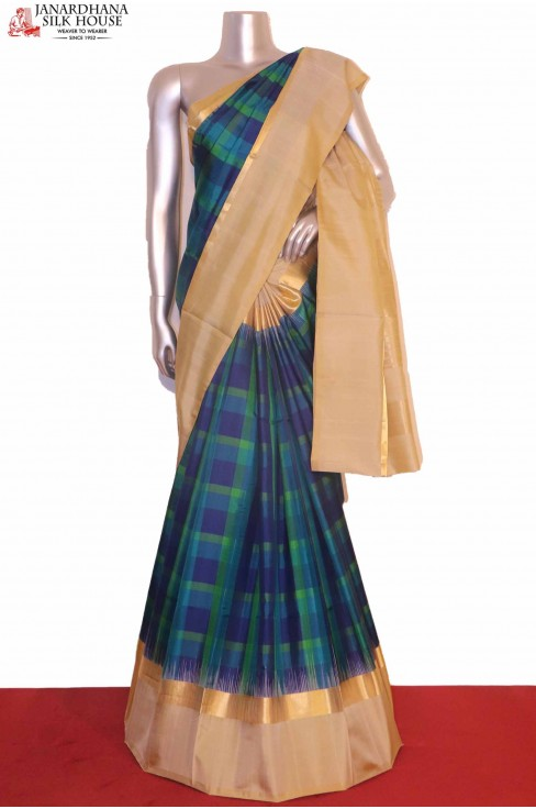 Checks Soft Silk Saree..