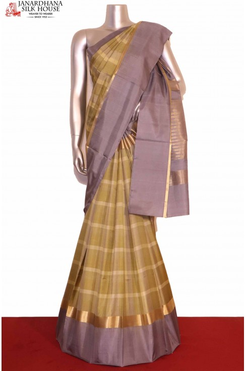 Checks Soft Silk Saree