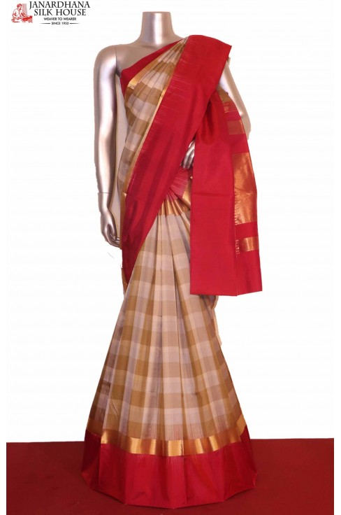 Contrast Soft Silk Saree..