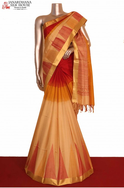 Temple Pure Soft Silk Saree..