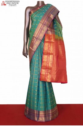 Checks Wedding South Silk Saree