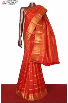 Zari Checks South Silk Saree
