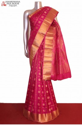 Pink Wedding South Silk Saree