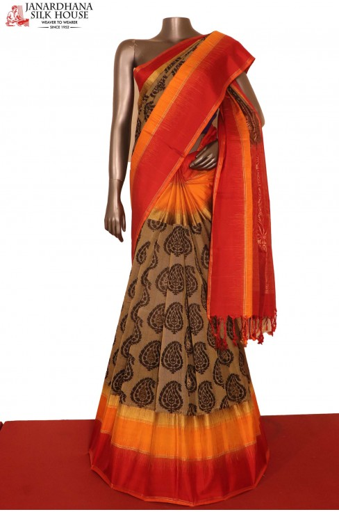 Designer Black Soft Silk Saree..