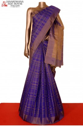 Designer Checks Soft Silk Saree