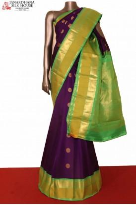 Peacock Chakram Kanchipuram Silk Saree