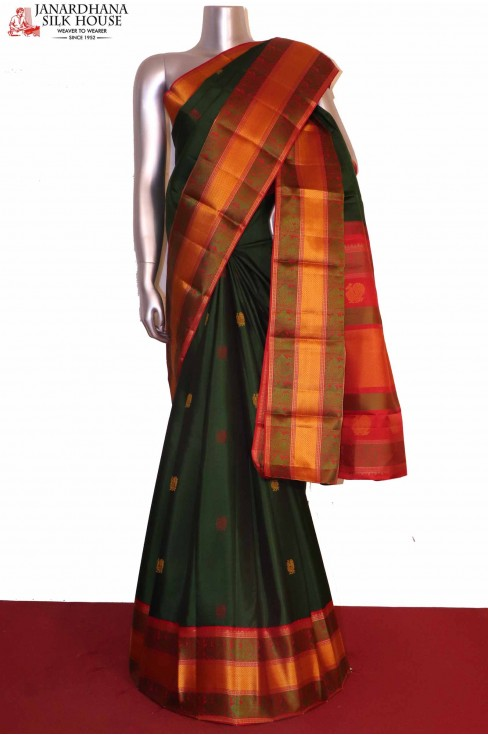 Thread Weave Kanchipuram Silk Saree