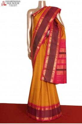 Checks Kanjeevaram Silk Saree