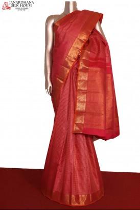Bridal Pink Kanchipuram Silk Saree