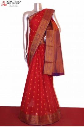 Exclusive Thread Weave Silk Cotton Saree
