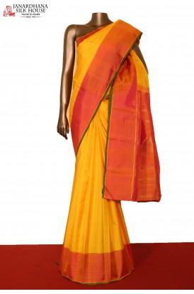 Checks & Contrast Kanjivaram Silk Saree