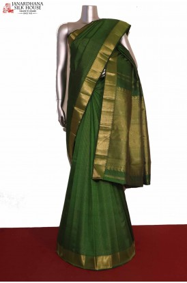 Zari Checks Bridal Kanjeevaram Silk Saree