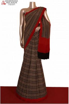 Abstract  Exclusive Crepe Silk Saree