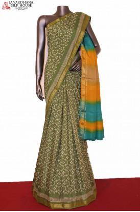 Exclusive Printed Tussar Silk Saree