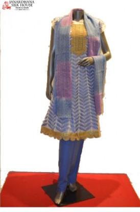 Semi-Stiched Pure Cotton Suits - Anarkali Style