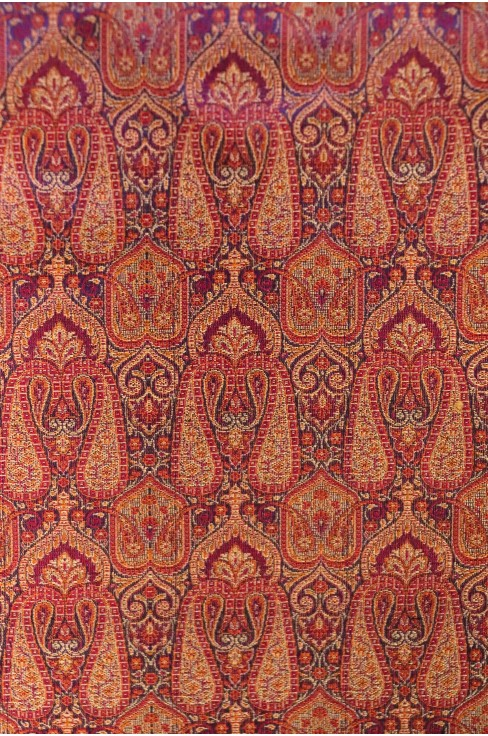 Handloom Exlcusive Pure Silk Jamawar Fabric W-44-45 Inches