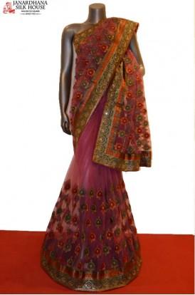 SSJC08511-Designer Party Wear Net Saree