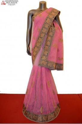 SSJF00426-Designer Party Wear Net Saree