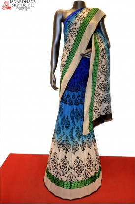 Designer Shaded Pure Georgette Silk Saree
