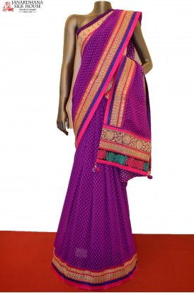 SSJF04782-Designer Party Wear Crepe Saree