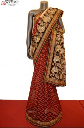 SSJG00231-Designer Party Wear Net Saree