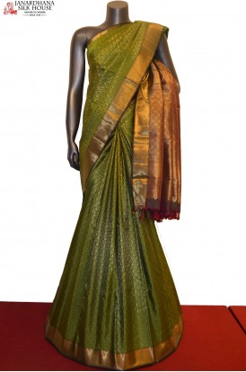Designer Zari Brocade Handloom Kanjeevaram Silk Saree