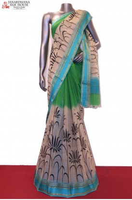 Floral Shaded Exclusive Pure Georgette Silk Saree
