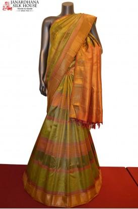Tissue Zari Brocade Kanjeevaram Silk Saree