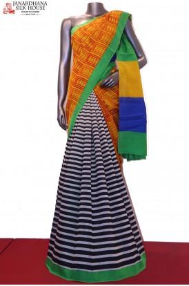 Party Wear Pure Linen Tussar Silk Saree