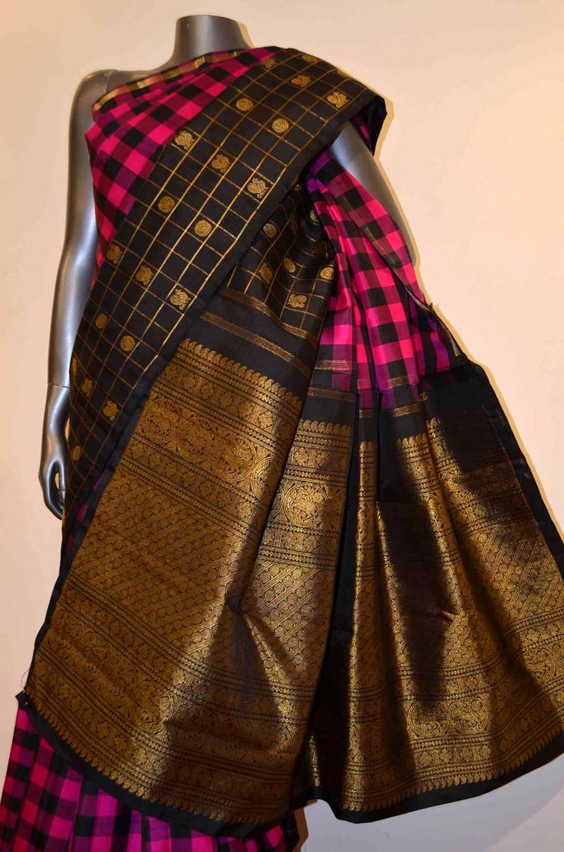 Exquisite Grand Contrast Kanjeevaram Silk Saree